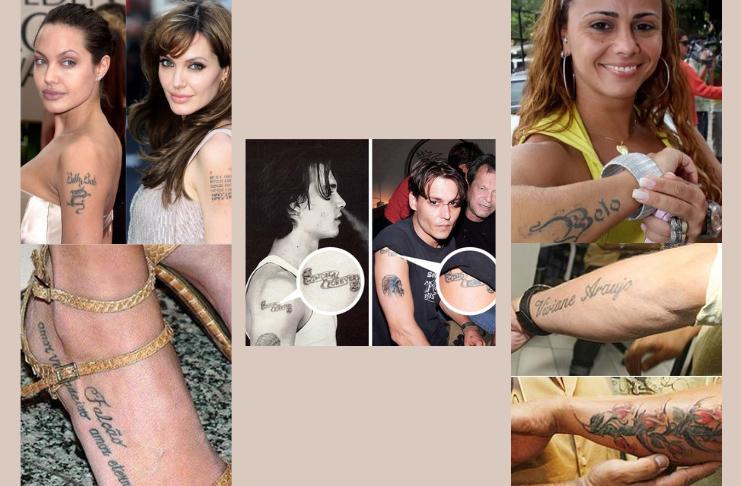 5 famosos que tatuaram o nome do ex - Descubra quais são