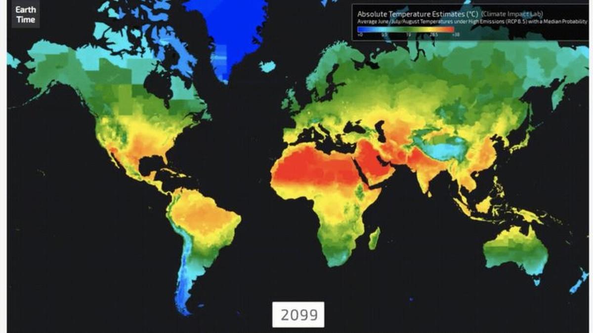 Aquecimento global - Mapas mostram as consequências do fenômeno na próxima geração