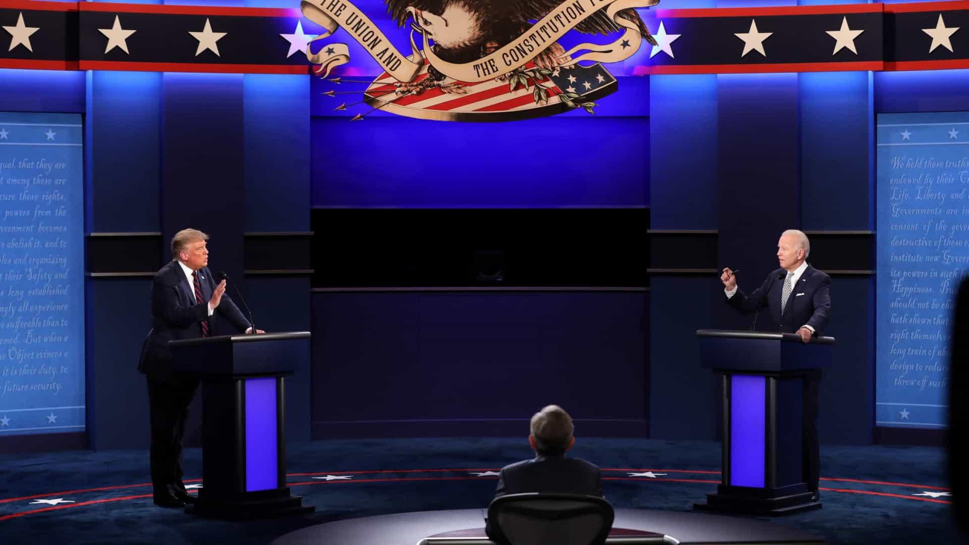 Os 5 assuntos mais comentados no último debate de Trump e Biden